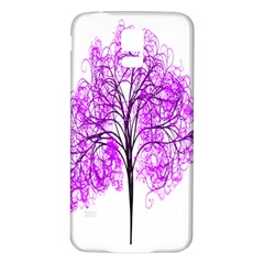 Purple Tree Samsung Galaxy S5 Back Case (White)