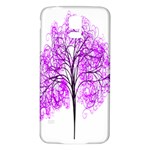Purple Tree Samsung Galaxy S5 Back Case (White) Front
