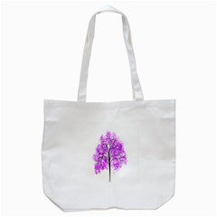 Purple Tree Tote Bag (White)