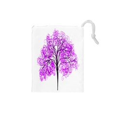 Purple Tree Drawstring Pouches (Small)