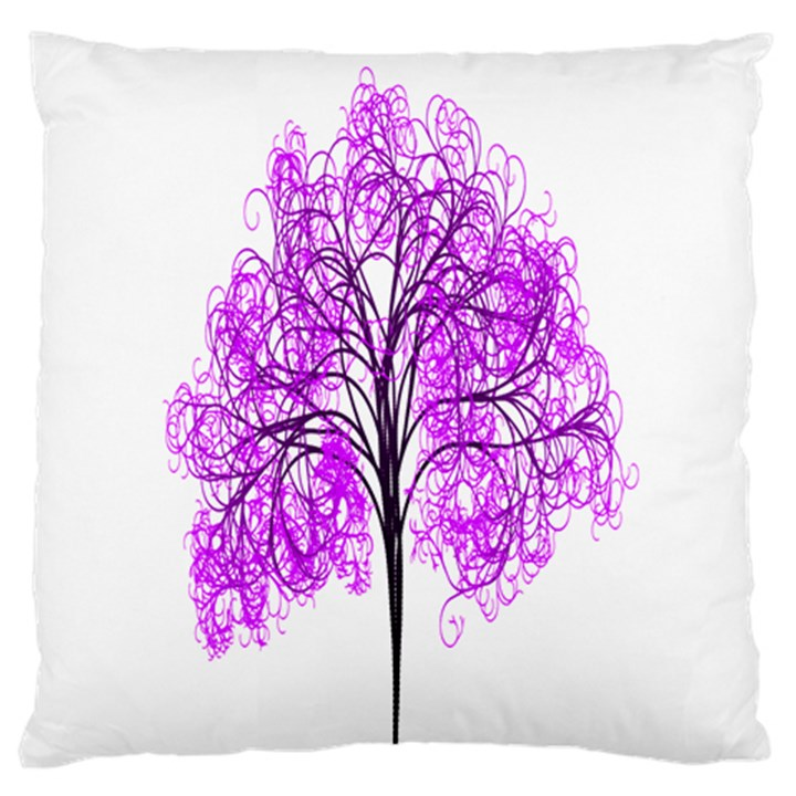 Purple Tree Standard Flano Cushion Case (Two Sides)