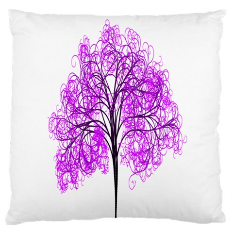 Purple Tree Large Flano Cushion Case (Two Sides)