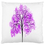 Purple Tree Large Flano Cushion Case (Two Sides) Back