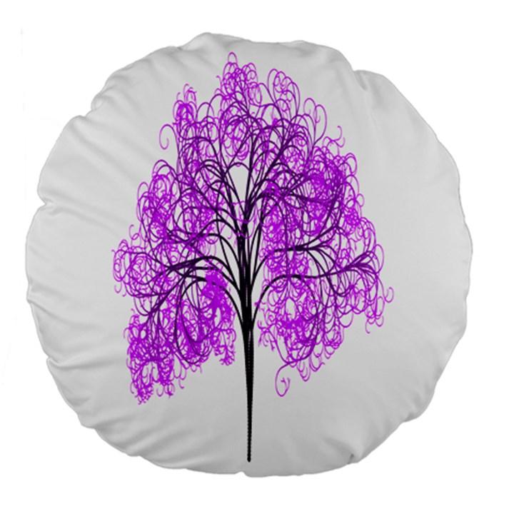 Purple Tree Large 18  Premium Flano Round Cushions