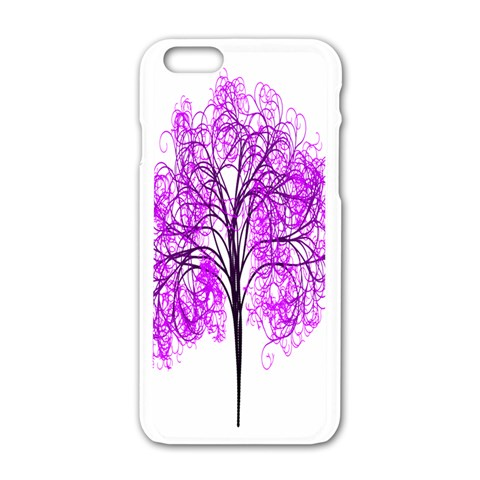 Purple Tree Apple iPhone 6/6S White Enamel Case