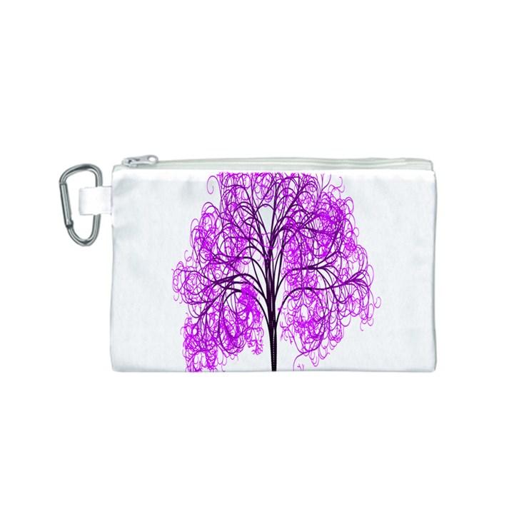 Purple Tree Canvas Cosmetic Bag (S)