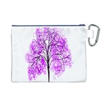 Purple Tree Canvas Cosmetic Bag (L) Back