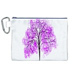 Purple Tree Canvas Cosmetic Bag (XL) Front