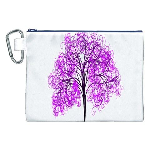 Purple Tree Canvas Cosmetic Bag (XXL)
