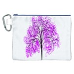 Purple Tree Canvas Cosmetic Bag (XXL) Front