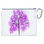 Purple Tree Canvas Cosmetic Bag (XXL) Back