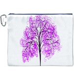 Purple Tree Canvas Cosmetic Bag (XXXL) Front