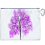 Purple Tree Canvas Cosmetic Bag (XXXL) Back