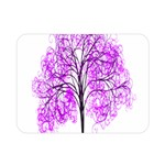 Purple Tree Double Sided Flano Blanket (Mini)  35 x27 Blanket Front