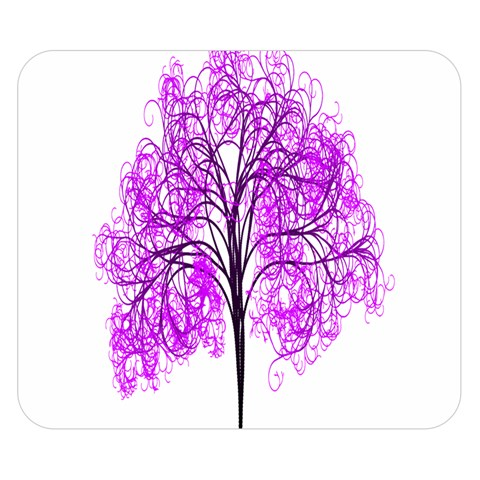 Purple Tree Double Sided Flano Blanket (Small)