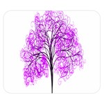 Purple Tree Double Sided Flano Blanket (Small)  50 x40 Blanket Back