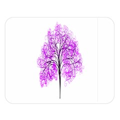 Purple Tree Double Sided Flano Blanket (Large)