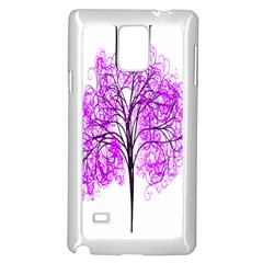 Purple Tree Samsung Galaxy Note 4 Case (White)