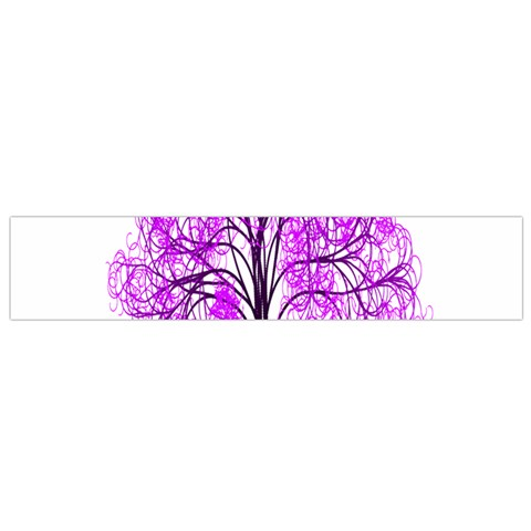 Purple Tree Flano Scarf (Small)