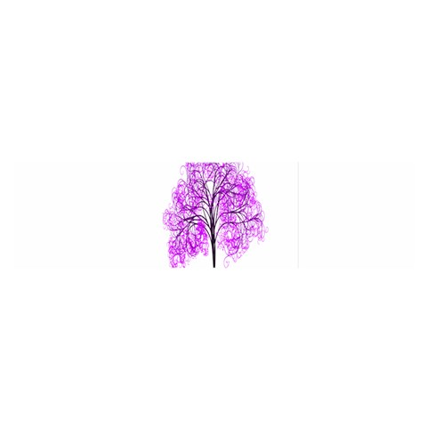 Purple Tree Satin Scarf (Oblong)