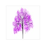 Purple Tree Small Satin Scarf (Square) Front