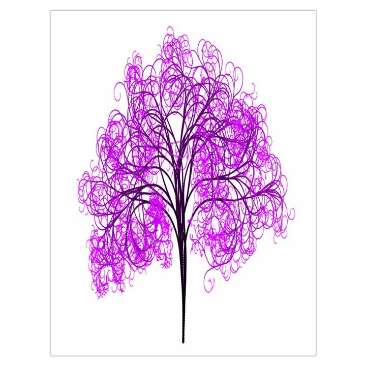Purple Tree Drawstring Bag (Large)