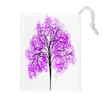 Purple Tree Drawstring Pouches (Extra Large) Front