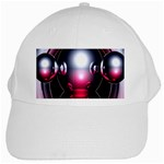 Red 3d  Computer Work White Cap Front