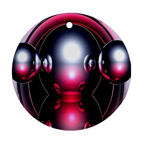 Red 3d  Computer Work Ornament (Round)