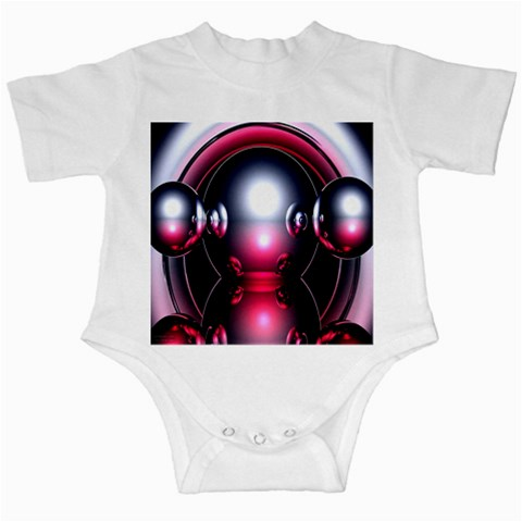 Red 3d  Computer Work Infant Creepers