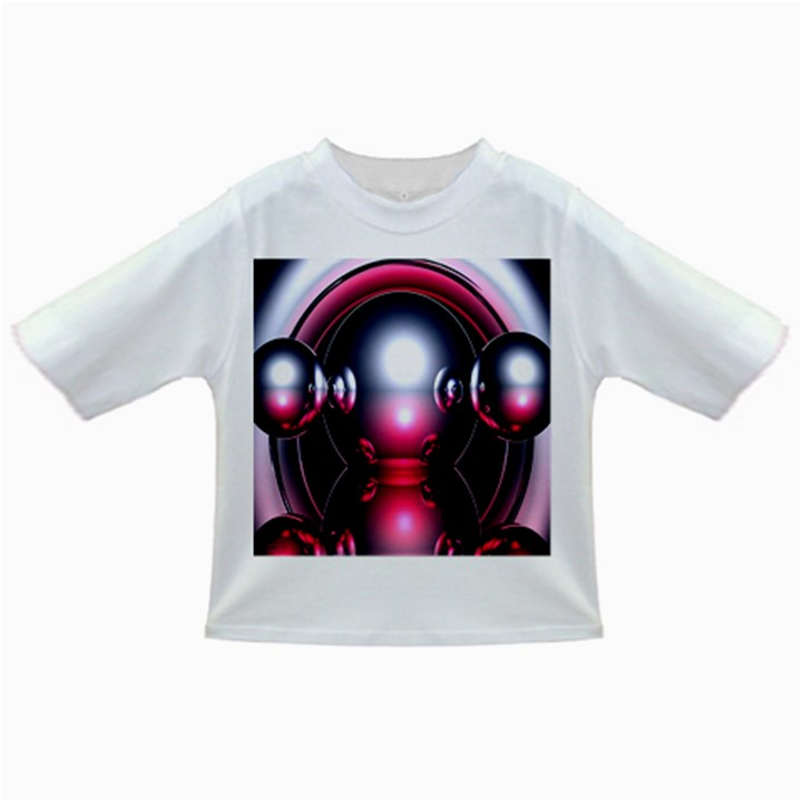 Red 3d  Computer Work Infant/Toddler T-Shirts
