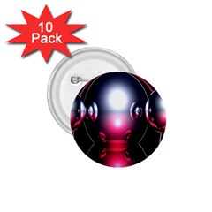 Red 3d  Computer Work 1.75  Buttons (10 pack)