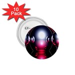 Red 3d  Computer Work 1.75  Buttons (10 pack) Front