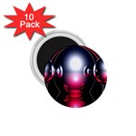 Red 3d  Computer Work 1.75  Magnets (10 pack)  Front