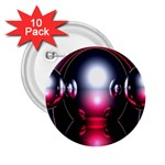 Red 3d  Computer Work 2.25  Buttons (10 pack)  Front