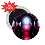 Red 3d  Computer Work 2.25  Magnets (10 pack)  Front