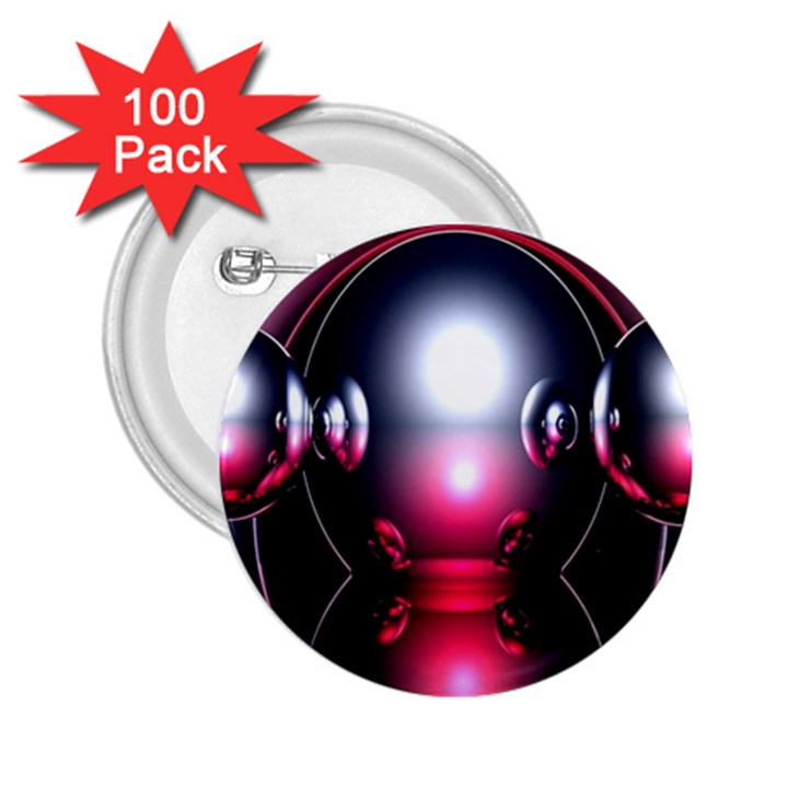 Red 3d  Computer Work 2.25  Buttons (100 pack)