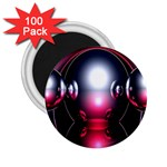 Red 3d  Computer Work 2.25  Magnets (100 pack)  Front