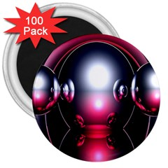 Red 3d  Computer Work 3  Magnets (100 pack)
