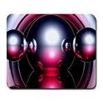 Red 3d  Computer Work Large Mousepads Front