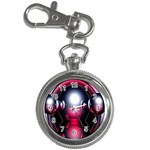 Red 3d  Computer Work Key Chain Watches Front