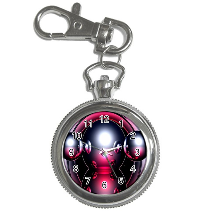 Red 3d  Computer Work Key Chain Watches
