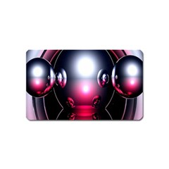 Red 3d  Computer Work Magnet (Name Card)