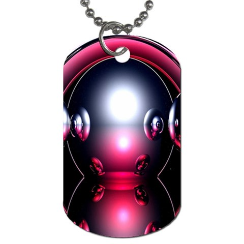 Red 3d  Computer Work Dog Tag (Two Sides)