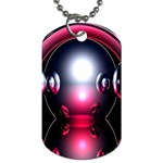 Red 3d  Computer Work Dog Tag (Two Sides) Front
