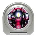 Red 3d  Computer Work Travel Alarm Clocks Front