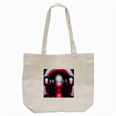 Red 3d  Computer Work Tote Bag (Cream)