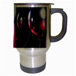 Red 3d  Computer Work Travel Mug (Silver Gray) Right