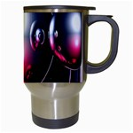 Red 3d  Computer Work Travel Mugs (White) Right