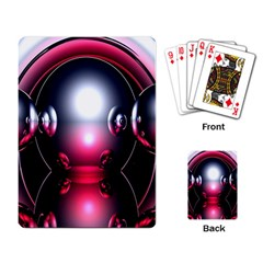 Red 3d  Computer Work Playing Card